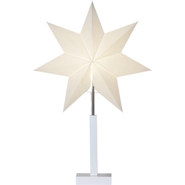 LED dekorācija Zvaigzne KARO, Star Trading, balta, 68x43cm, E14, Max. 25W, IP20