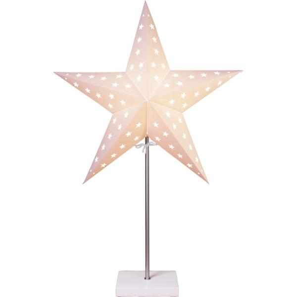 LED dekorācija Zvaigzne LEO, Star Trading, balta, 65x43cm, E14, Max. 25W, IP20