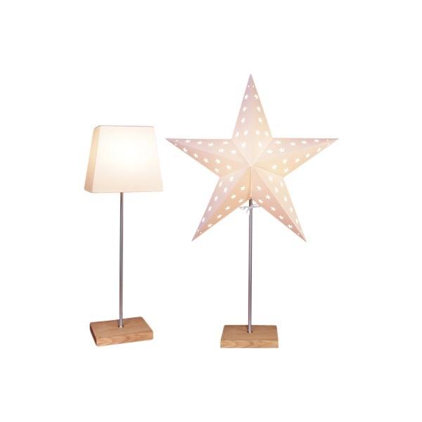 LED dekorācija Zvaigzne LEO 2in1 , Star Trading, balta, 65x43cm, E14, Max. 25W, IP20