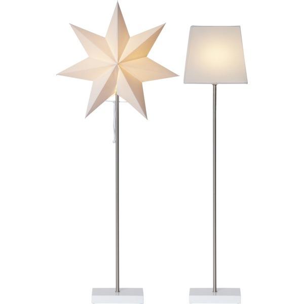LED dekorācija Zvaigzne MOA 2in1, Star Trading, balta, 82x34cm, E14, Max. 25W, IP20