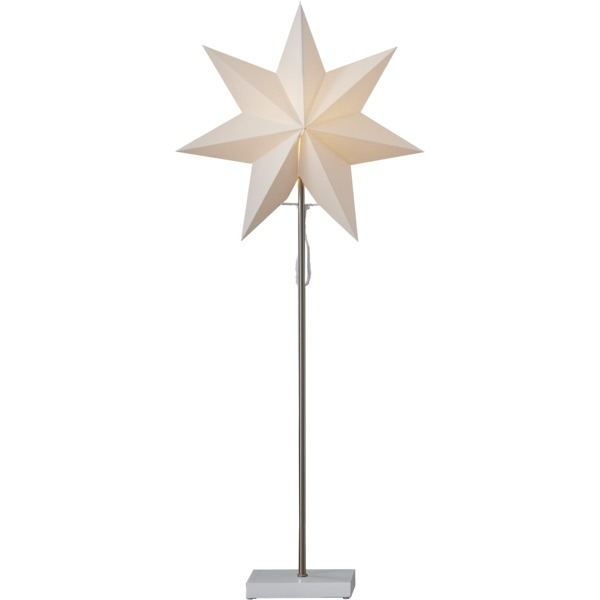 LED dekorācija Zvaigzne TOTTO, Star Trading, balta, 80x34cm, E14, Max. 25W, IP20
