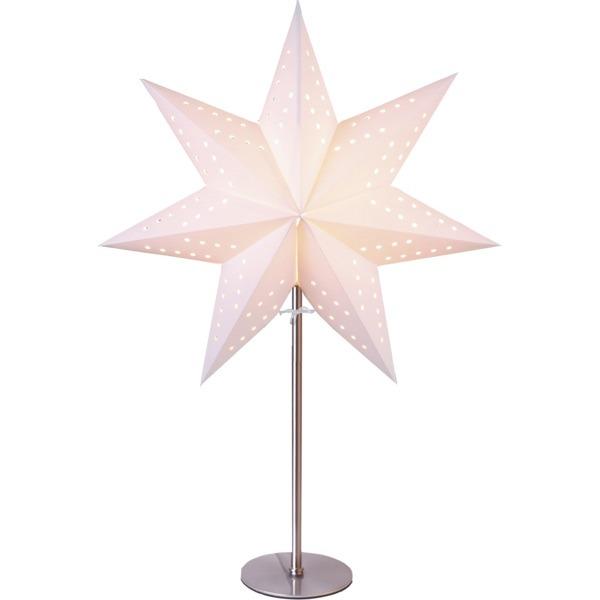 LED dekorācija Zvaigzne BOBO, Star Trading, balta, 51x34cm, E14, Max. 25W, IP20