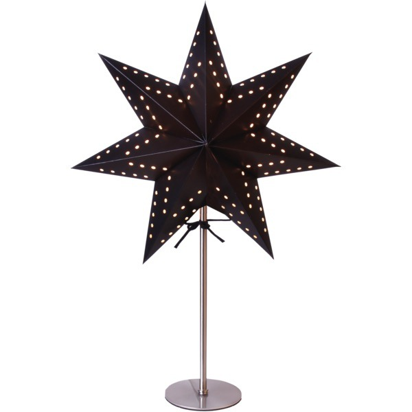 LED dekorācija Zvaigzne BOBO, Star Trading, melna, 51x34cm, E14, Max. 25W, IP20