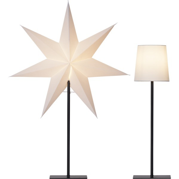 LED dekorācija Zvaigzne FROZEN, Star Trading, balta, 76x55cm, E14, Max. 25W, IP20