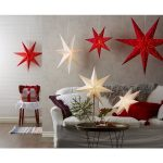 LED dekorācija Zvaigzne SENSY, Star Trading, balta, 78x52cm, E14, Max. 25W, IP20