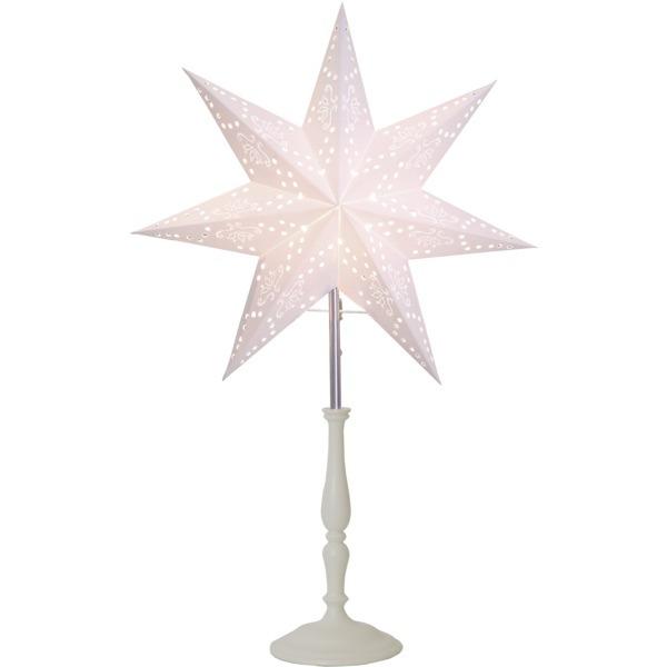 LED dekorācija Zvaigzne ROMANTIC, Star Trading, balta, 55x35cm, E14, Max. 25W, IP20