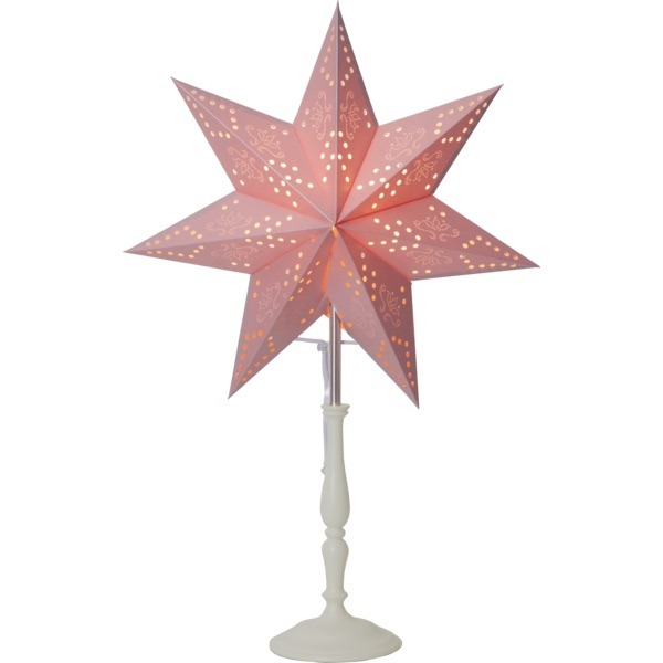 LED dekorācija Zvaigzne ROMANTIC, Star Trading, rozā, 55x35cm, E14, Max. 25W, IP20