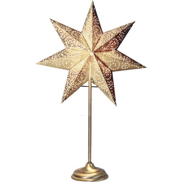 LED dekorācija Zvaigzne ANTIQUE, Star Trading, balta, 55x35cm, E14, Max. 25W, IP20