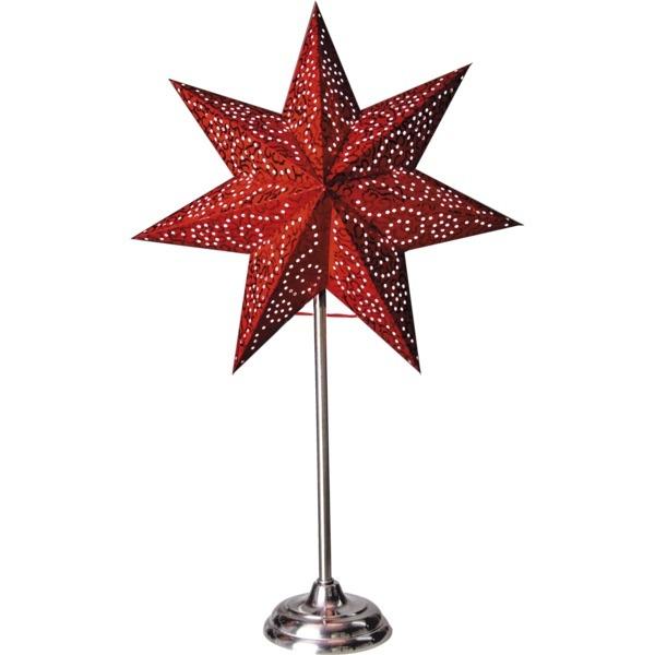 LED dekorācija Zvaigzne ANTIQUE, Star Trading, sarkana, 55x35cm, E14, Max. 25W, IP20