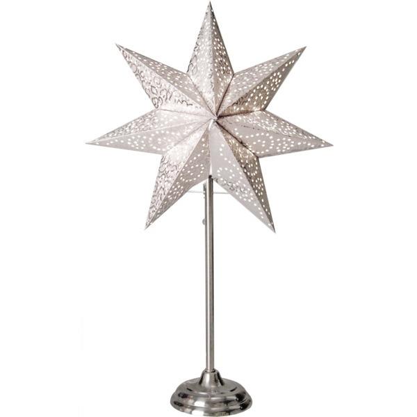LED dekorācija Zvaigzne ANTIQUE, Star Trading, sudraba, 55x35cm, E14, Max. 25W, IP20