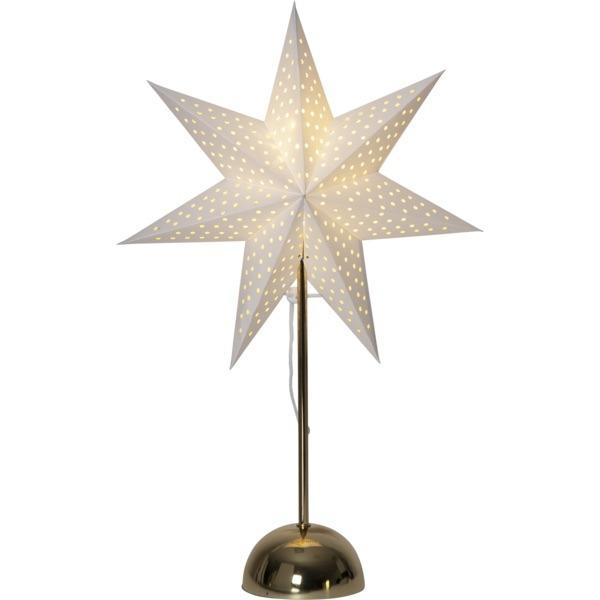 LED dekorācija Zvaigzne LOTTIE, Star Trading, balta, 55x35cm, E14, Max. 25W, IP20