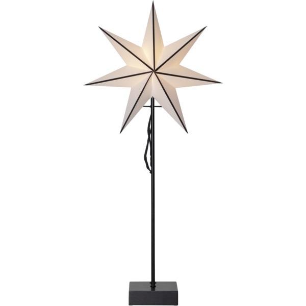 LED dekorācija Zvaigzne ASTRO, Star Trading, balta, 74x35cm, E14, Max. 25W, IP20
