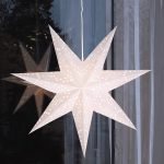 LED dekorācija Zvaigzne ROMANTIC, Star Trading, balta, 54x54cm, E14, Max. 25W, IP20