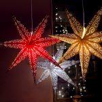 LED dekorācija Zvaigzne ANTIQUE, Star Trading, balta, 60x60cm, E14, Max. 25W, IP20