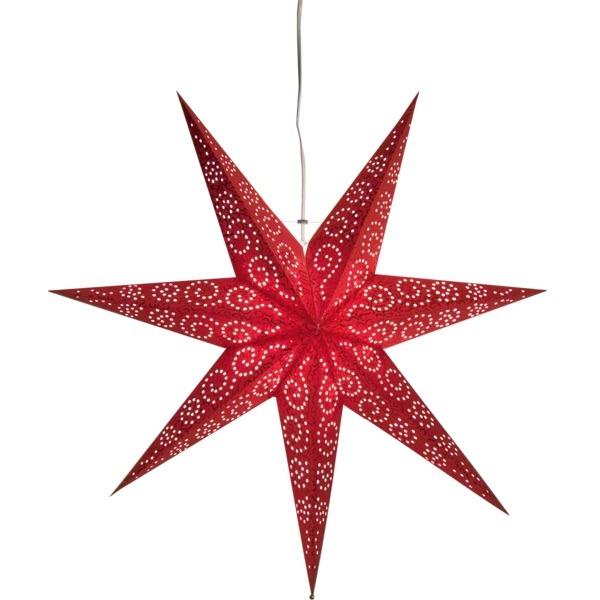 LED dekorācija Zvaigzne ANTIQUE, Star Trading, sarkana, 60x60cm, E14, Max. 25W, IP20