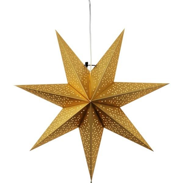 LED dekorācija Zvaigzne DOT, Star Trading, zelta, 54x54cm, E14, Max. 25W, IP20