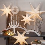 LED dekorācija Zvaigzne DOT, Star Trading, balta 54x54cm, E14, Max. 25W, IP20